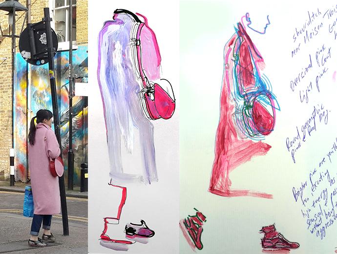 Shoreditch Streetstyle by Maria Lavigina: Pink