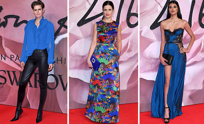 Cobalt Blue-British-Fashion-Awards-2016-Red-Carpet-Unique-Style-Platform